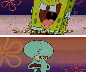 spongebob, funny, and squidward image