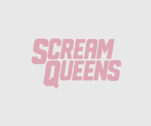 header, pink, and scream queens image