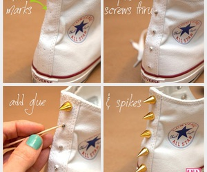 diy, converse, and shoes image