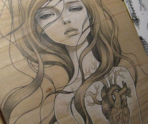audrey kawasaki, heart, and artwork image