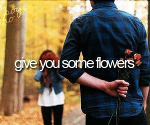 boy, flowers, and love image