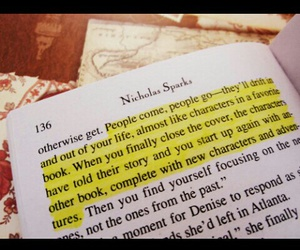 book, nicholas sparks, and quote image