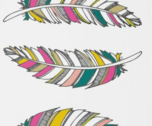 art, colorful, and feathers image