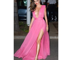 dress, miranda kerr, and pink image