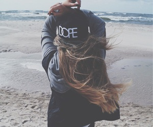 girl, dope, and beach image