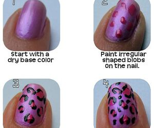 nails, tutorial, and leopard image