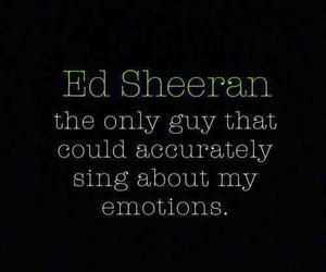 ed sheeran, emotions, and music image