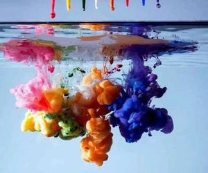 colors, water, and art image