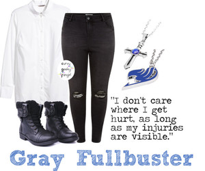 fairy tail, plus size, and gray fullbuster image