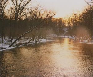 light, ohio, and winter image