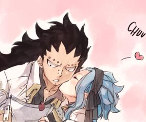 anime, kiss, and gajeel redfox image