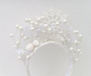 etsy, winter wedding, and bridal head piece image