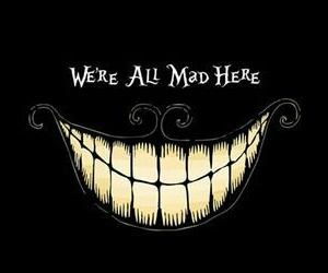 smile and alice in wonderland image