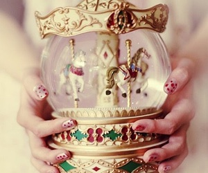 horse, nails, and carousel image