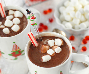 christmas, Hot, and marshmallows image