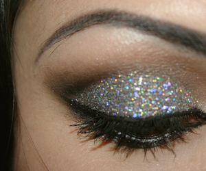 glitter, make up, and makeup image