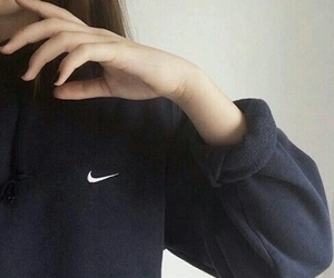 aesthetic, girl, and nike sweater image