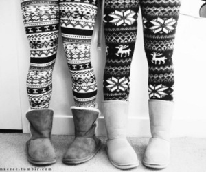 uggs, winter, and leggings image