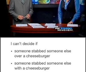 funny, cheeseburger, and lol image