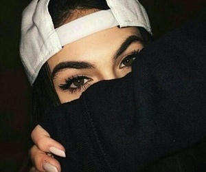aesthetic, black, and eyebrows image