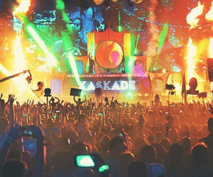 electronic, festival, and tomorrowland image