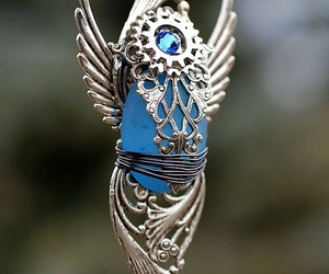 blue, necklace, and pendant image