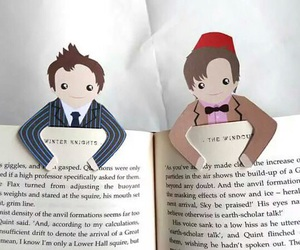 doctor who, bookmark, and book image