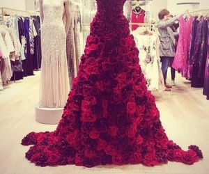 dress, red, and fantastic image