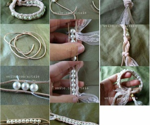 bracelet, craft, and pearl image