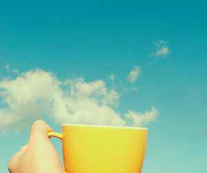 sky, clouds, and cup image