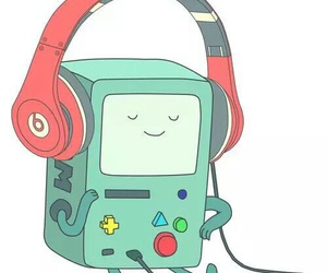 bmo, adventure time, and music image