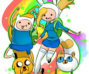 finn, adventure time, and cake image