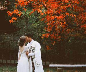 autumn, bridal, and bride image