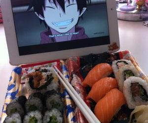 anime, food, and asian image