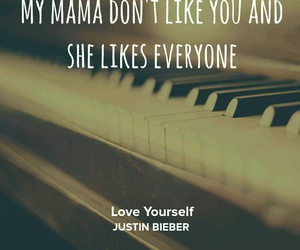 Lyrics, music, and justin bieber image