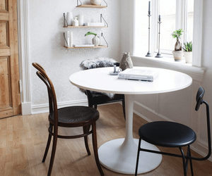 black and white, dining room, and fresh image