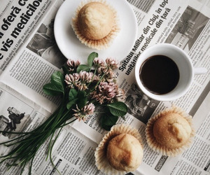 coffee, food, and flowers image