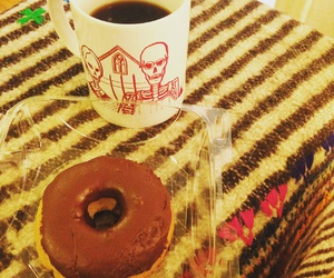 coffee, donut, and los angeles image