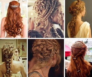 blonde hair, girl, and hairstyles image