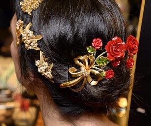 barrettes, girl, and hairstyles image