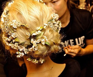 barrettes, blonde hair, and girl image