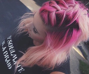 'pink' and 'hair' image