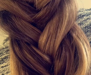 hair, love, and braide image