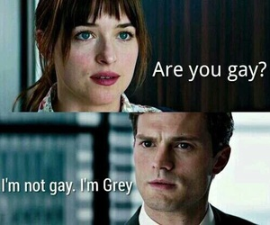 Jamie Dornan, christian grey, and grey image
