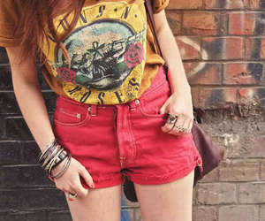fashion, Guns N Roses, and red image