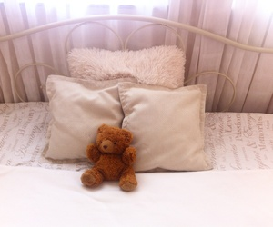 apartment, home, and teddy bear image