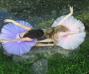 art, dancer, and pointe shoes image