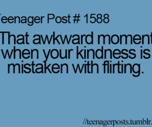 teenager post, flirting, and kindness image