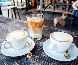 cappuccino, coffee, and iced image