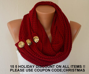 etsy, chunky scarf, and infinity scarves image